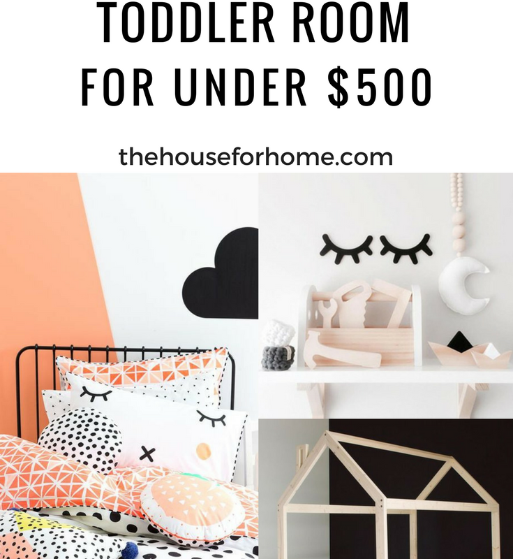 Nursery Turned Toddler Room for Under $500
