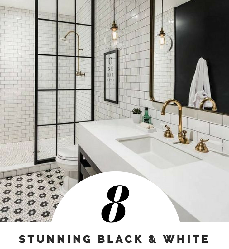 8 Stunning Black & White Bathrooms You Need to See
