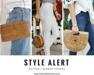 hottest summer trends. summer purses. straw purse