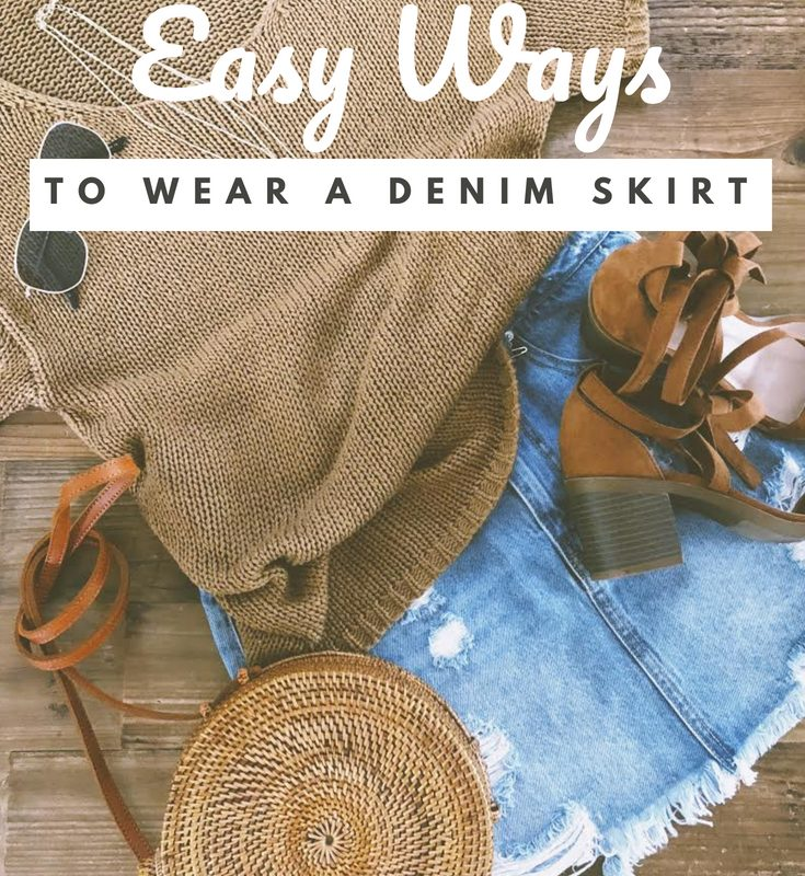 5 easy ways to style a denim skirt