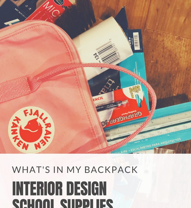 What's In My Backpack: Interior Design School Supplies