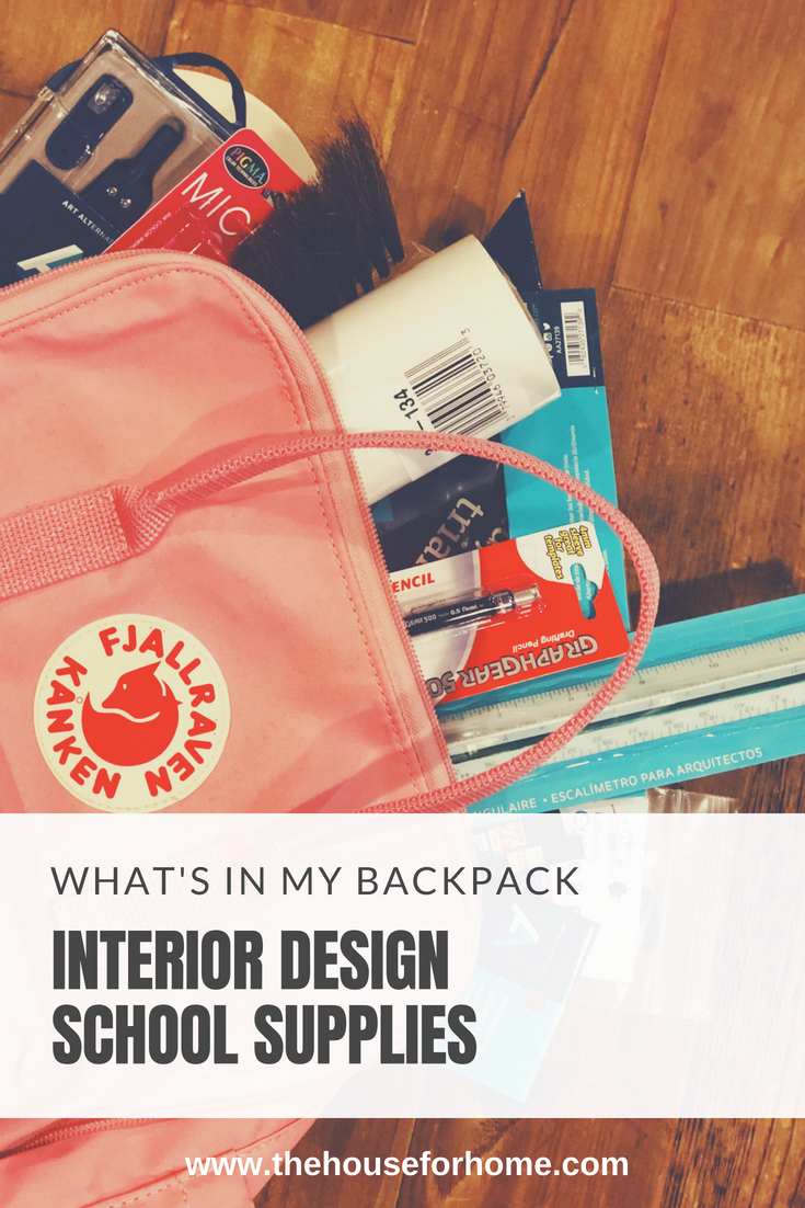 What's in my Backpack:interior design supplies