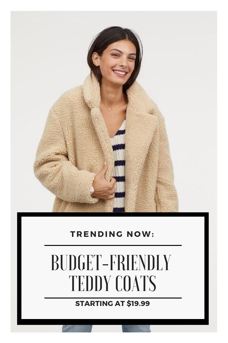 Trending Now-Budget Friendly Teddy Coats