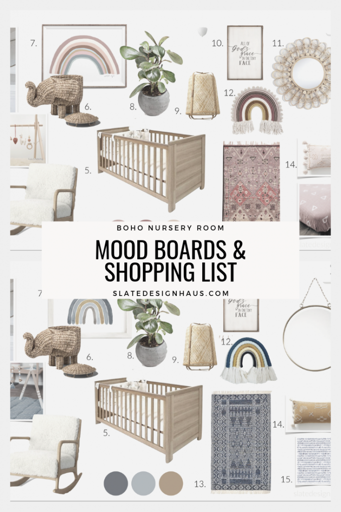 BOHO NURSERY MOOD BOARD