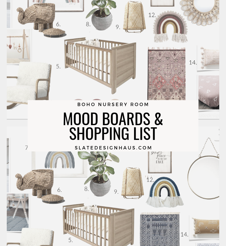 Boho Nursery Mood Board & Shopping List
